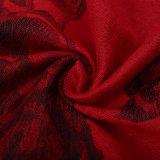 Scialle rosso di modo della sciarpa di inverno di Pashmina del fiore per la signora