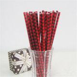 Elementos decorativos de color rojo al por mayor de pajas de beber de papel