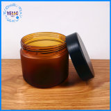 Leere kosmetische Flaschen und Gläser der Haar-Sahne-PETG