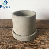 Crisol de escritorio colorido del plantador del cemento