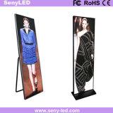 Cartel de suelo de la pantalla LED para publicidad audiovisual.