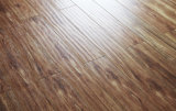 настил винила E0 AC4 HDF паза 12.3mm v прокатанный партером деревянный Laminate деревянный