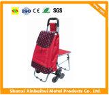 Chariot en gros direct de chariot à achats de vêtement de tissu de constructeur avec la qualité