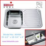 Comptoir évier de cuisine en acier inoxydable avec carte de vidange, évier en acier inoxydable, Bar'évier (8048)
