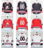 Настроить Ohl Ниагара Icedogs Джерси мужская дети женщин черно-белый Красного Хоккей дешевые футболках Nikeid Custom любое имя любой № Goalit разрез