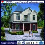 冷たい形作られた鉄骨フレームのプレハブの家