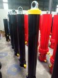 Reboque telescópico do único cilindro ativo do petróleo hidráulico do caminhão da bomba da descarga de Rod de laço