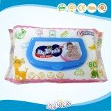 온화한 청소 손 및 마스크 짠것이 아닌 처분할 수 있는 성인 또는 아기 젖은 닦음