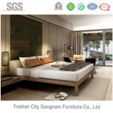 5 rigid Chinese Mordern hotel bed bedroom Wooden Furniture (GN-HBF-58)