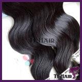 Человеческие волосы девственницы естественного черного самого лучшего качества бразильские