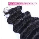 Trama natural brasileira do competidor do cabelo do Crochet do cabelo do Virgin