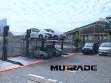 二レベル油圧上昇車の駐車装置