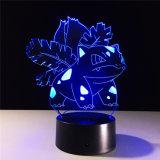 Custom Покемон Bulbasaur Ivysaur 3D иллюзию Desked светодиодный светильник
