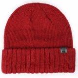 Темно-серый трикотажные акриловые зимой Beanie Red Hat