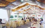 Haut de la vente à l'extérieur tissu PVC profilé en aluminium grande fête tente faite en Chine
