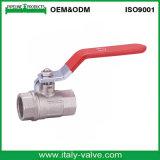 El latón de Ce&ISO Cw617n forjó la vávula de bola sin reducción en la sección de paso (AV-BV-1046)