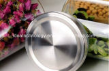 Tapa de acero inoxidable la jarra de cristal claro