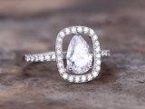 Plw06 Platina 950 de Trouwring van de Overeenkomst van de Diamant Moissanite