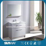 Neuer Entwurfs-Fußboden-stehende Badezimmer-Möbel mit Spiegel Sw-Mf1619