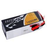 Batterij Lipo de van uitstekende kwaliteit van Tattu 16000mAh 6s1p 15c 22.2V voor Hommel