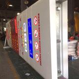 Postes de tubo de acero de la estación de gasolina Tabla de Precios Pilón firmar