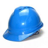 blauwe Kleur V Helm van de Veiligheid van het Type de Harde voor Bouw