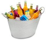 Galvanisierte ovale Partei-Wanne-Getränkegetränk-Wanne-Eis-Stahlwanne