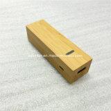 Banco de potencia de bambú móviles de alimentación de 2600 mAh de Batería Portátil USB Bank