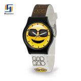 Neues Entwurfs-preiswertes kundenspezifisches Firmenzeichen-analoge Mädchen-Armbanduhr mit Silikon-Brücke