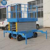 Un elevatore idraulico delle 3 forbici idrauliche mobili di tonnellata per le merci