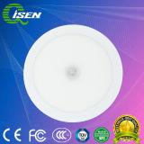 Venda a quente ronda do Sensor de Luz do Painel 6W