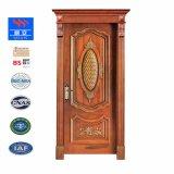 ヨーロッパデザイン手によって切り分けられるチェリーの木製の純木のドアSwVA005