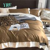 Kundenspezifisches luxuriöses Hotel 1000t Tan und weiße Bettwäsche