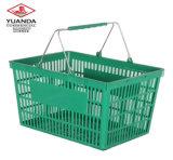 De grote Grote Supermarkt die van de Grootte Plastic het Winkelen Mand Rolling