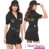 Sexy Traje mulher polícia Adulto Lingerie uniforme