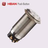 Interruttore di pulsante momentaneo illuminato PUNTINO del metallo di Hbs1gq 19mm