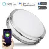 15W WiFi потолочный светильник рассеянного света 12-дюймовый светодиодный индикатор для утопленного монтажа с регулируемой яркостью цветов Smart потолочного освещения