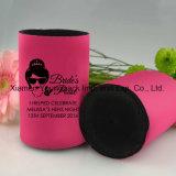Promoção de moda Customized Printed Hot Pink Neoprene Stubby Can Cooler com Base