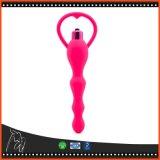 Spielwaren-Silikon-Zerhacker-analer Stecker-rote wasserdichte regen anale Prostatamassage-Geschlechts-Spielwaren für Frauen an