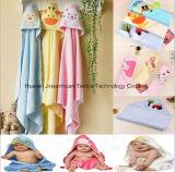 Essuie-main à capuchon d'usine de bébé chinois de vente en gros, belle peau 100% de soin de coton de modèle de dessin animé