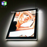 Ultra-Thin Screw Crystal LED Publicité Light Box