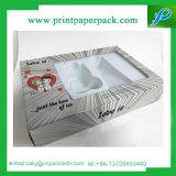 Rectángulo de empaquetado del papel de imprenta para el rectángulo cosmético con la ventana clara