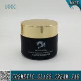 100g Noir masque facial de vérin de bocal de verre 100ml