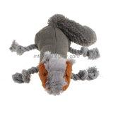 채워지지 않은 연약한 씹기 장난감은 개를 위한 견면 벨벳 동물성 장난감을 귀여워한다