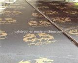 Preto e castanho 15mm filme reciclado diante de contraplacado Pizhou