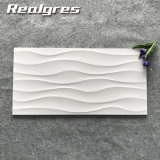tuiles en céramique glacées lustrées blanches superbes de mur de l'onde 300X600