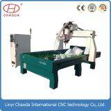Gravador de granito CNC 3D com serra de corte e mudança de ferramenta