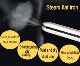 Straightener Titanium do cabelo do vapor do diodo emissor de luz (V179)