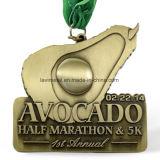 주문을 받아서 만들어진 아연 합금 절반 마라톤 5k 스포츠 포상 메달