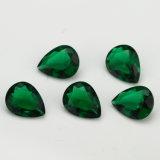 보석 싼 녹색 에메랄드 색 배 모양 유리를 위한 합성 유리